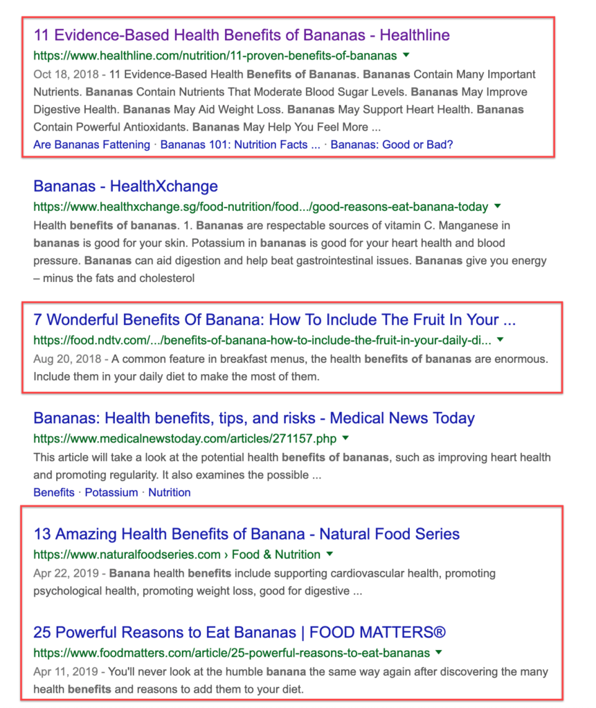 Benefits Of Bananas Google Query Results