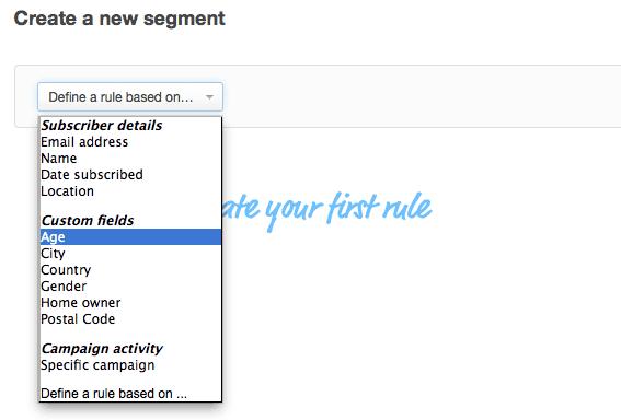 Create New Segment In Campaign Monitor
