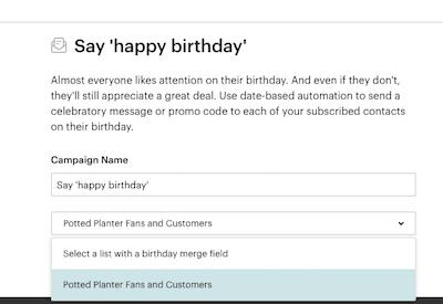 Happy Birthday Email in Mailchimp