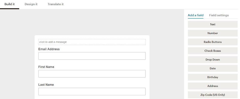 Mailchimp Form Builder