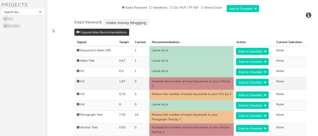 Pageoptimizer Pro Interface