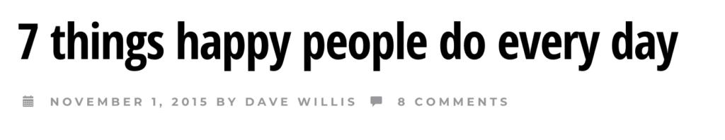 Cosa fanno le altre persone Esempio di titolo