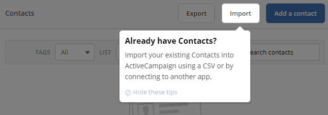 Activecampaign Contacts Import