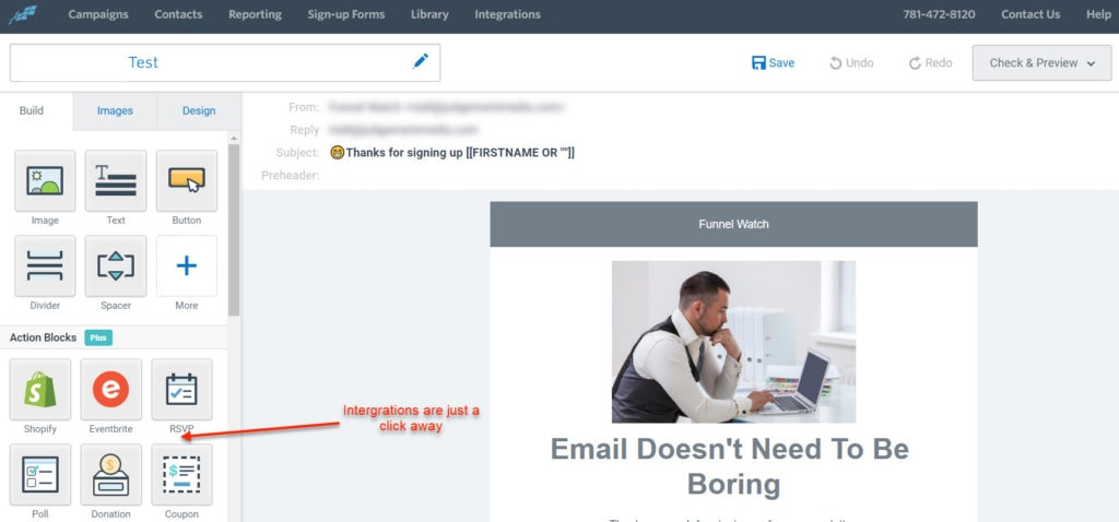Constant Contact Drag & Drop Email Editor