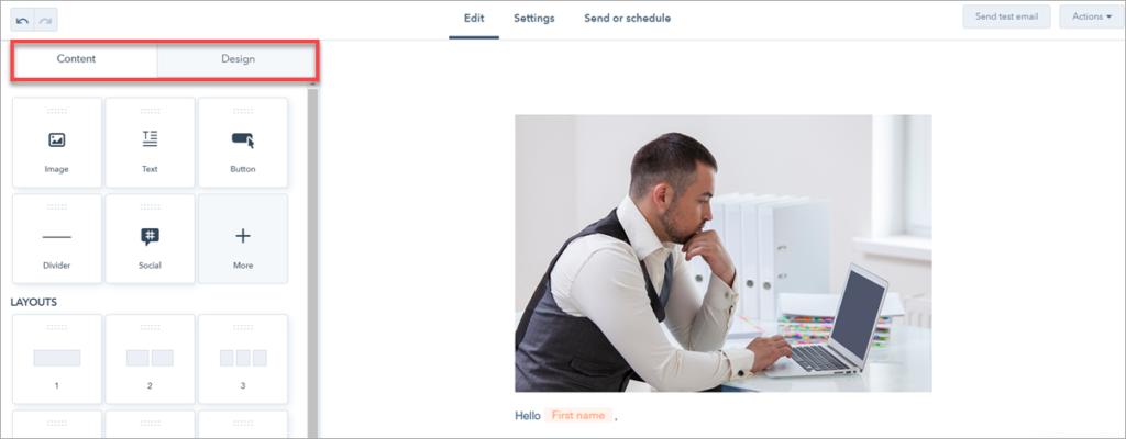 Email Editor Hubspot