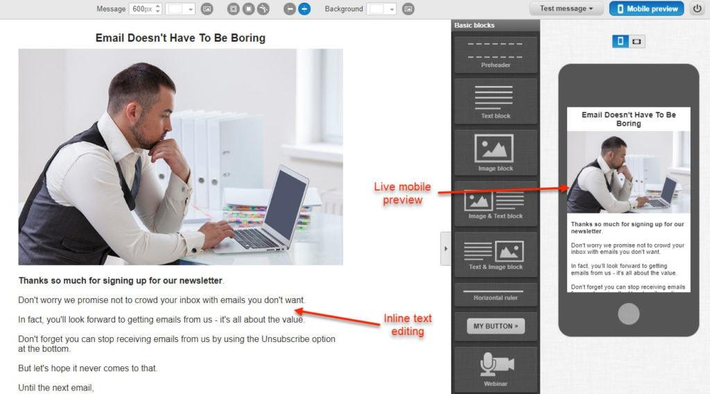 Getresponse Email Editor