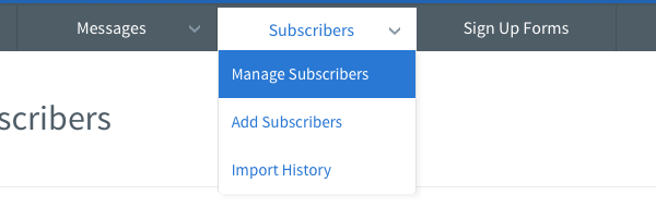 Getresponse Subscribers Management