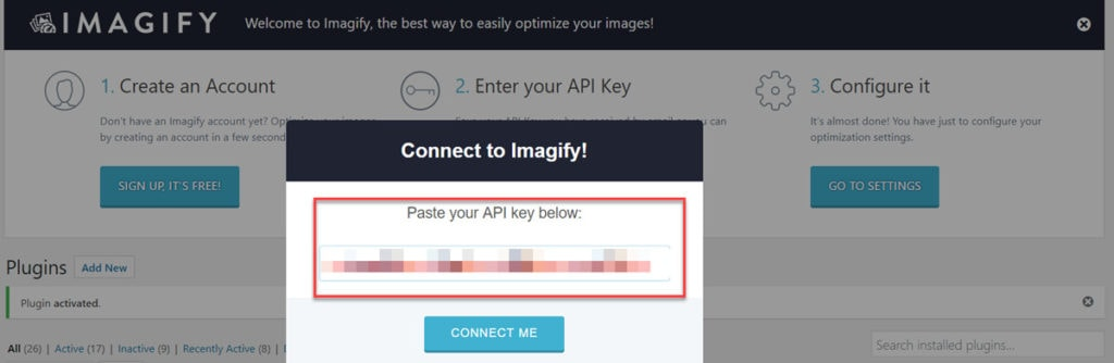 Imagify Api Connection