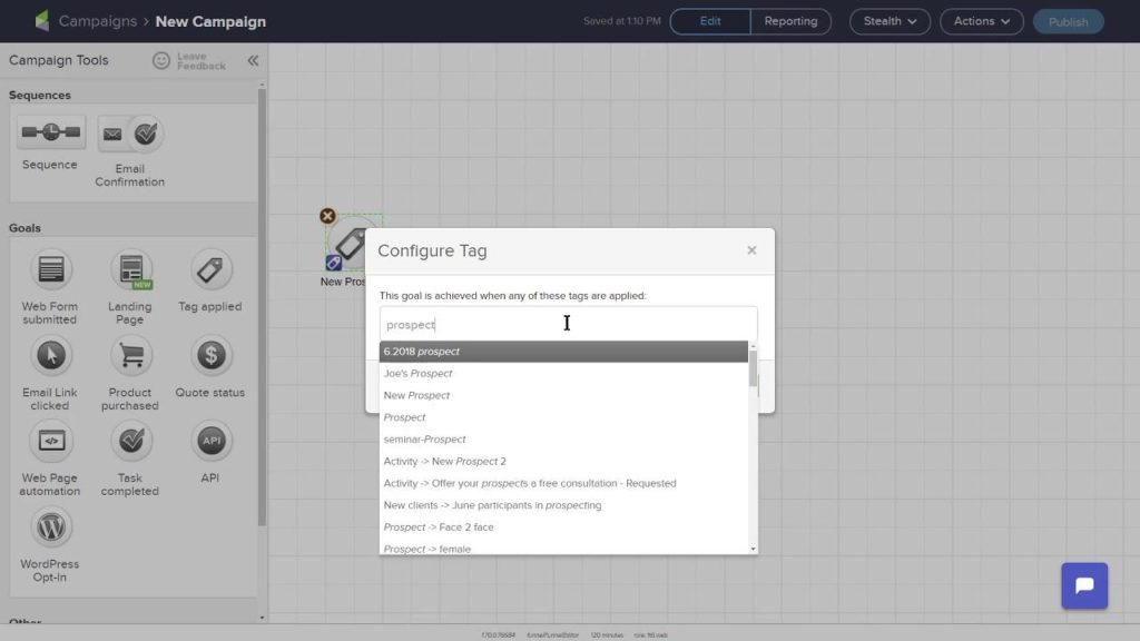 Infusionsoft Visual Builder
