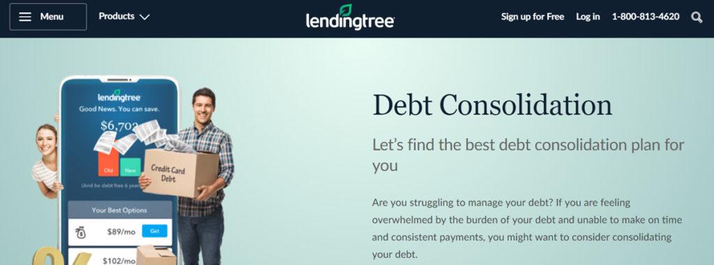 Lending Tree Homepage Screenshot