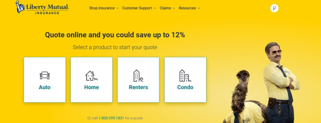 Liberty Mutual Homepage