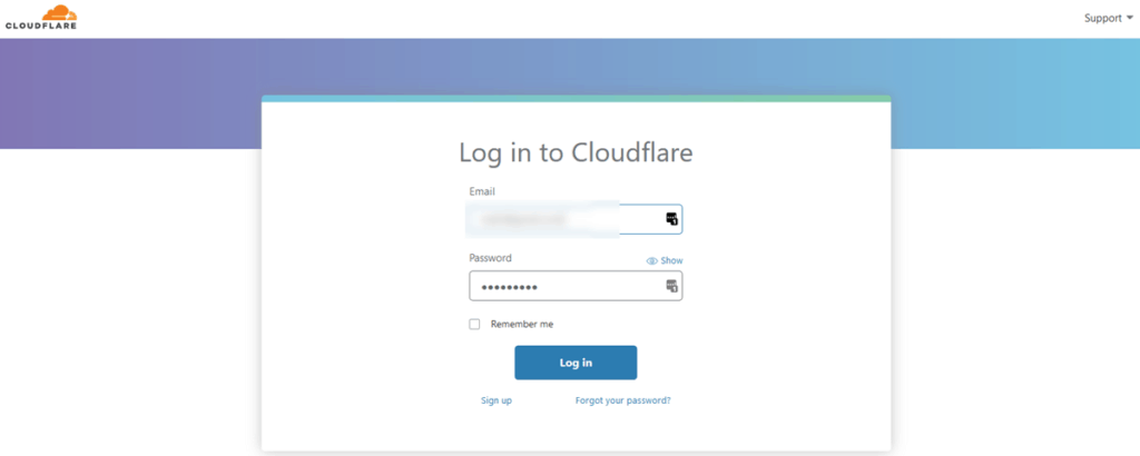 Log In To Cloudflare