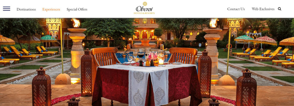 Oberoi Hotels And Resorts Homepage