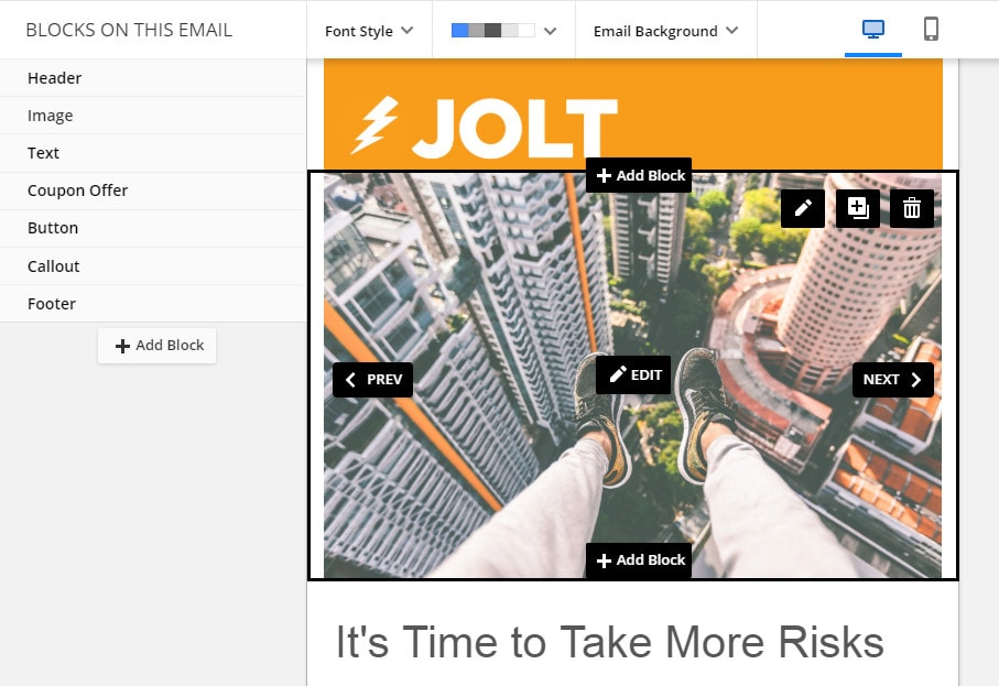 Ontraport Email Builder
