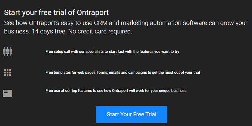 Ontraport Free Trial