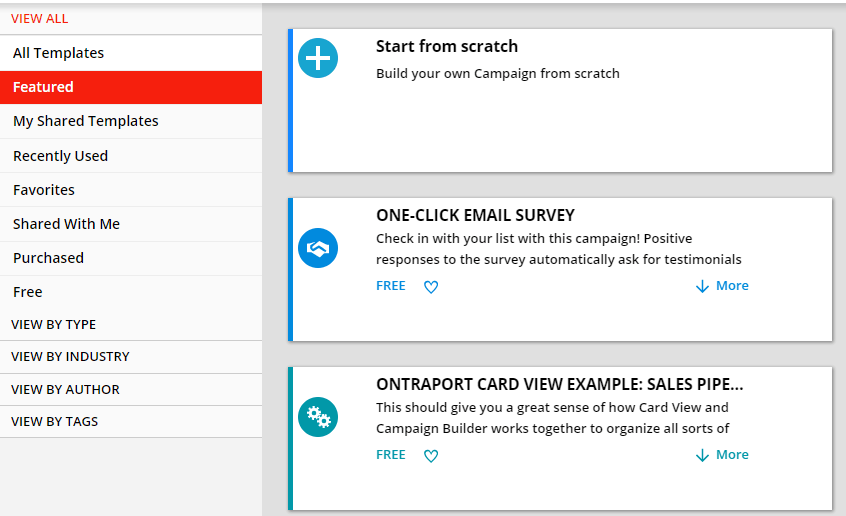 Ontraport Template Options