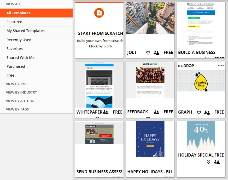 Ontraport Templates Library
