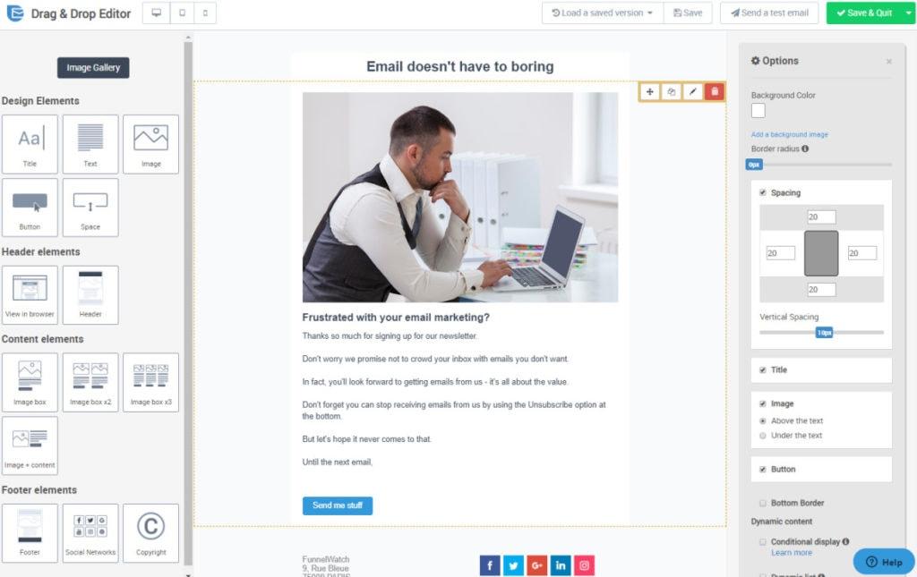 Sendinblue Drag And Drop Email Editor
