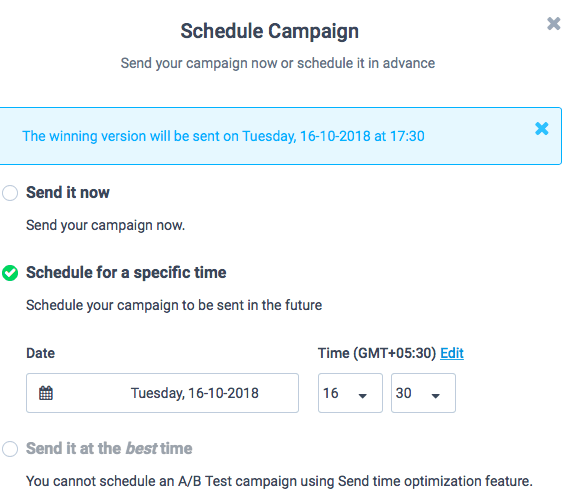 Sendinblue Email Campaign Ab Testing