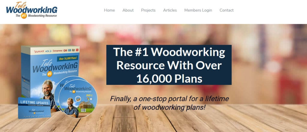 Teds Woodworking Homepage