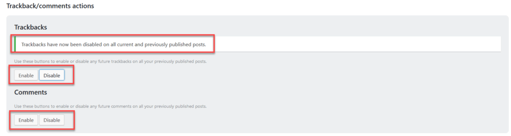 Trackbacks:comments Actions Wp Optimize