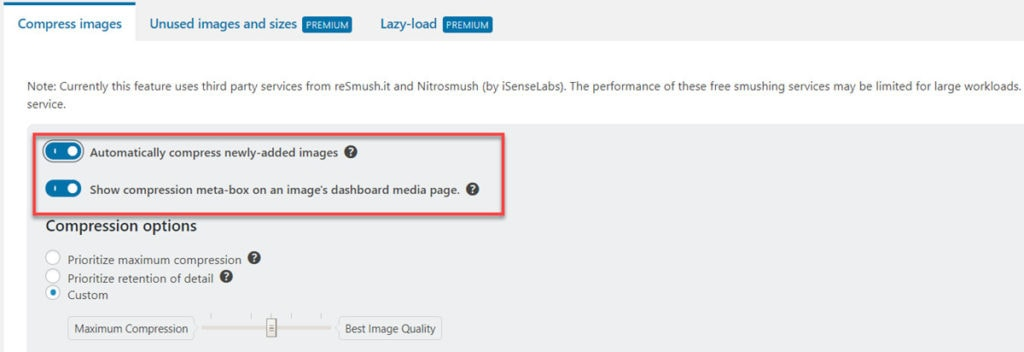 Wp Optimize Automatically Compress Newly Added Images