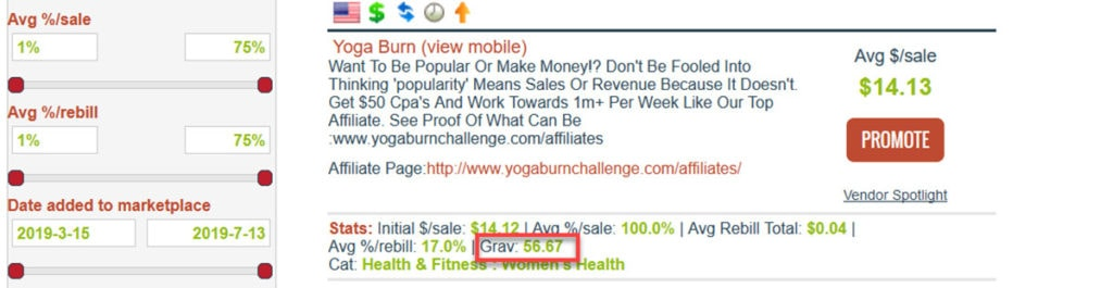 Yogaburn Product On Clickbank