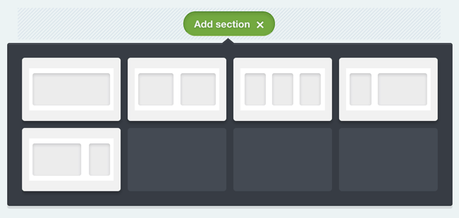 Add Section Campaign Monitor