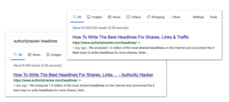 Ah Titolo tag modificato da Google