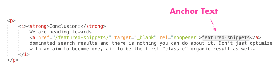 Anchor Text In Html