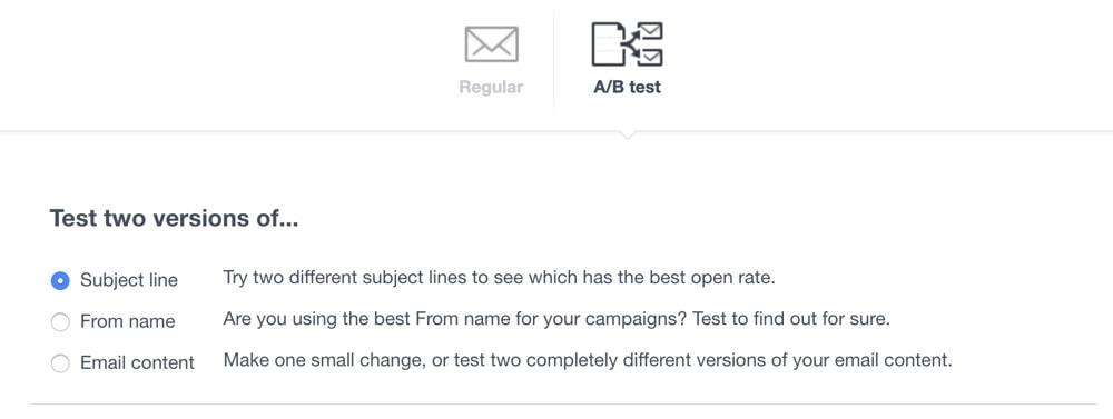 Campaign Monitor A/ b Testing