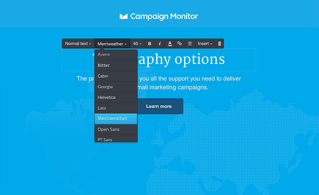 Campaign Monitor Fonts