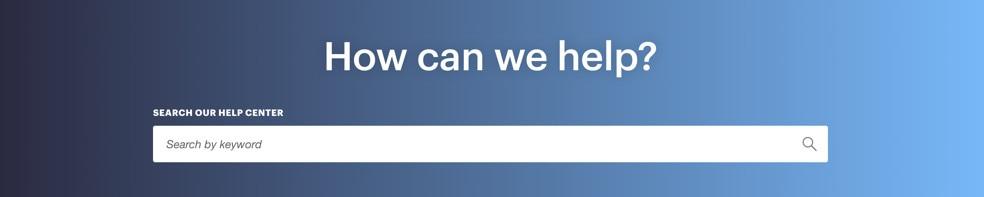 Campaign Monitor Help Center Search