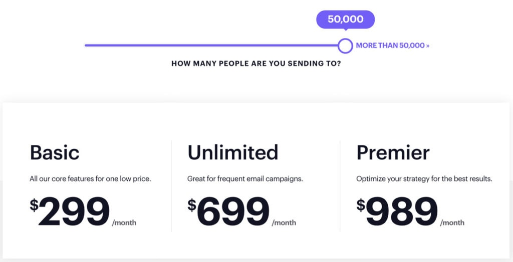 Campaign Monitor Pricing For 50000 Subscribers