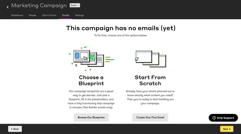 Creating New Campaign In Drip