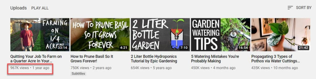 Epic Gardening Youtube Channel