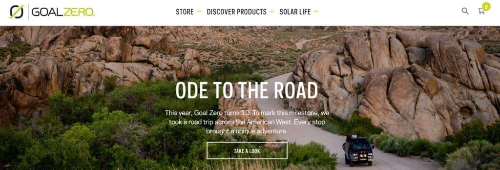 Goal Zero Homepage