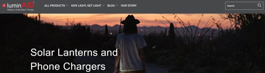 Luminaid Homepage
