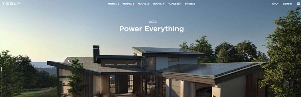 Tesla Homepage