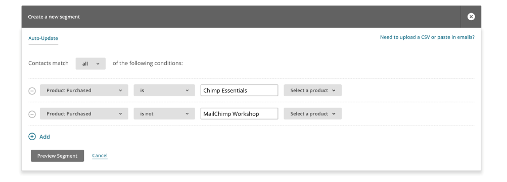 Mailchimp Contacts Upload And Grouping