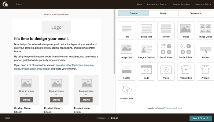 Mailchimp Drag And Drop Email Editor