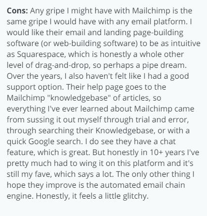 Mailchimp Landing Page Builder Review