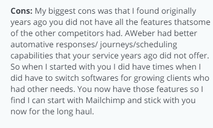 Mailchimp Review From Capterra