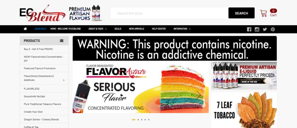 Ec Blend Homepage Screenshot