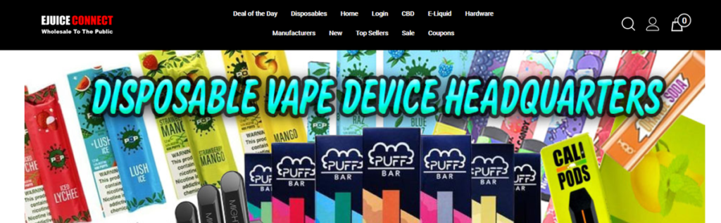Ejuice Connect Homepage Screenshot