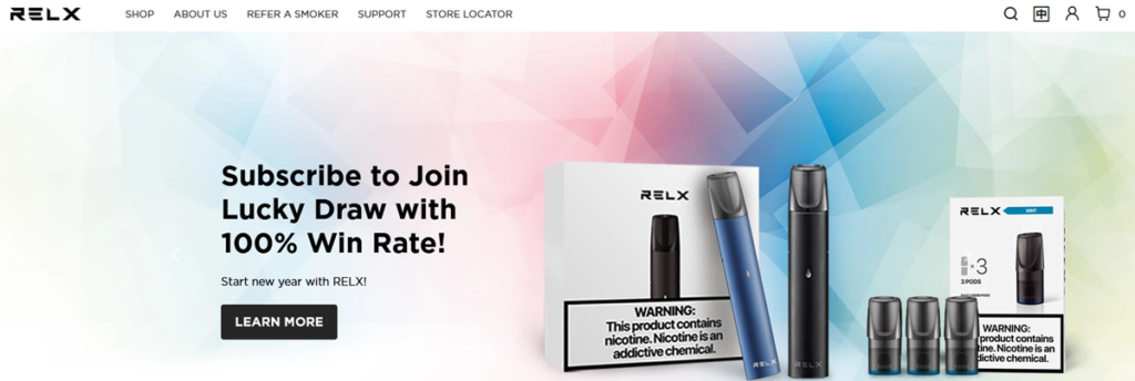 Relx Homepage Screenshot