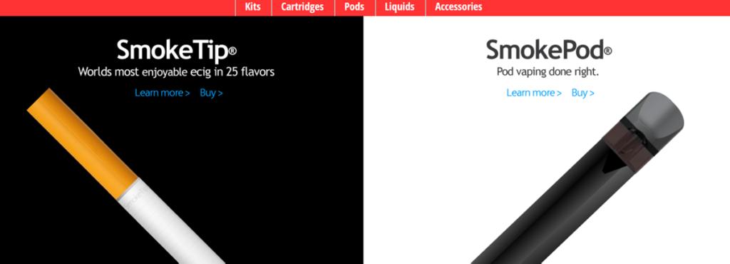 Smoketip Homepage Screenshot