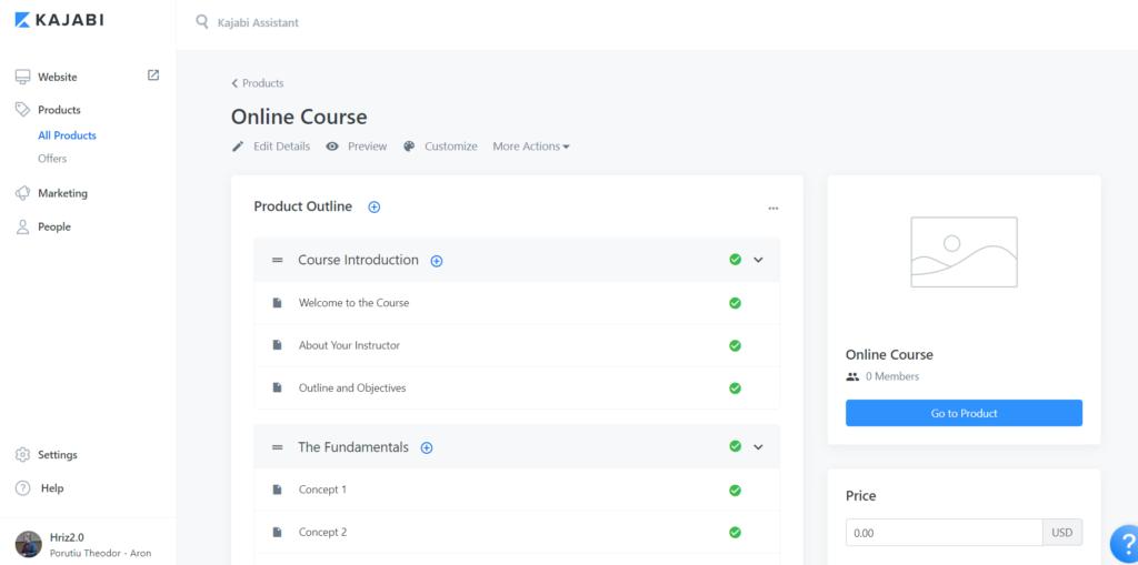 Kajabi Online Course Template