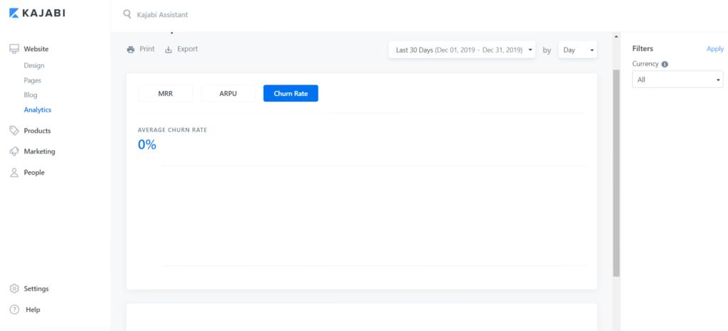 Kajabi Website Analytics Preview