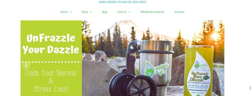 Mountain Mel's Homepage Screenshot